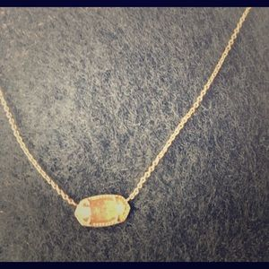 Kendra Scott 'gold' and gold druzy necklace